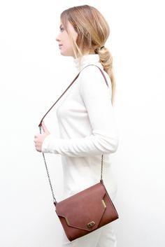 MIKA marsala brown #leather #bag #mayennenelen