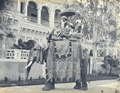 Her husband the Maharaja Sir Jagatjit Singh Bahadur on a Elephant. She ask him to take a jewel that this Elephant use to wear and she made an amazing head piece with that jewel.This head piece become to be very popular.