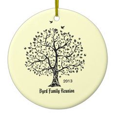 Family Tree Ceramic Ornament
