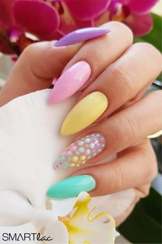 Nails, easter nail designs, nail designs spring, gel nail art d Easter Nail Designs, Nail Designs Spring, Gel Nail Designs, Acrylic Nail Designs Classy, Nails Design, Classy Nails, Simple Nails, Cute Nails, Pretty Nails