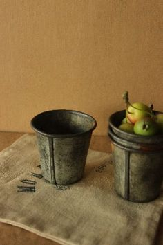 tiny galvanized buckets