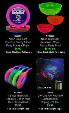 assorted neon blacklight reactive 10 ounce party cups my 30th