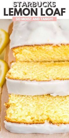 This moist Lemon Cake Recipe is fluffy, tangy and so easy to make from scratch! Every bite of this supremely moist pound cake is bursting with lemon flavor. If you like the Starbucks Lemon Loaf then you& love this homemade lemon pound cake! Loaf Recipes, Pound Cake Recipes, Easy Cake Recipes, Easy Desserts, Spring Desserts, Healthy Lemon Desserts, Lemon Recipes Easy, Recipes With Cake Flour, Desserts With Lemon