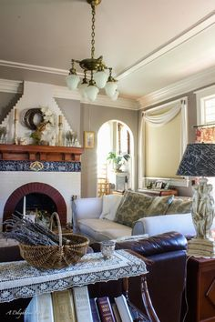 refreshing the living room decor for spring