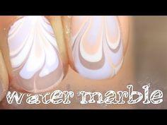 Nägel marmorieren - water marble Design - YouTube