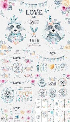 Love raccoon collection 1181225