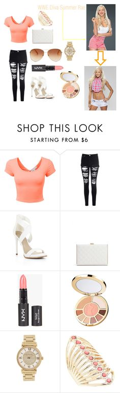 """""""WWE Diva Summer Rae"""" by summerkim12 ❤ liked on Polyvore featuring LE3NO, Glamorous, BCBGMAXAZRIA, GUESS by Marciano, tarte, Michael Kors, Lane Bryant, Tommy Hilfiger, WWE and wwediva"""