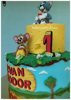 Tom and Jerry Tom And Jerry Cake, Birthday Parties, Children Birthday Party Ideas, Anniversary Parties, Birthday Celebrations