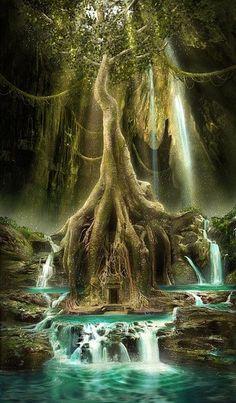 underground civilization #Art #fantasy #illustration