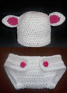 Lamb hat with matching diaper cover custom by megscutekidshop, $33.00