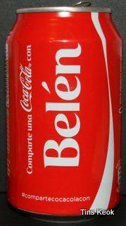 MMMM ERA CON M NO CON N.....:(  latas de coca cola con nombre belen - Buscar con Google