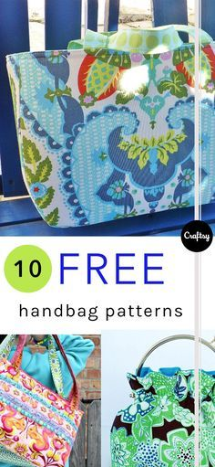 Which of these free handbag patterns will you sew first? Happy sewing! https://www.craftsy.com/blog/2016/07/free-handbag-patterns?cr_linkid=Pinterest_Sew_OP_BLOG_SewingBags&cr_maid=90033&regMessageId=12&cr_source=Pinterest&cr_medium=Social Engagement
