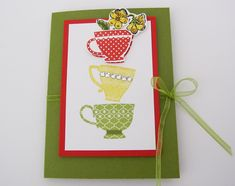 """Stampin Up Tea Bag Holder.  Inside this fun, favor your guests will find a tea bag and """"Your a Blessings"""" sentiment.  http://brandyscards.com/2012/02/stampin-up-tea-shoppe-stamp-set/"""