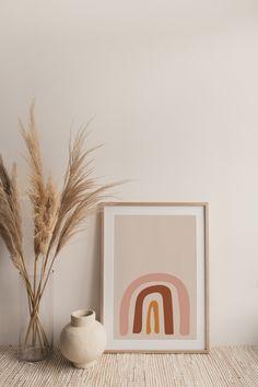 Rainbow Print, Rainbow Baby, Rainbow Nursery, Aesthetic Room Decor, Aesthetic Art, Style Deco, Mid Century Modern Art, Boho Living Room, Baby Prints