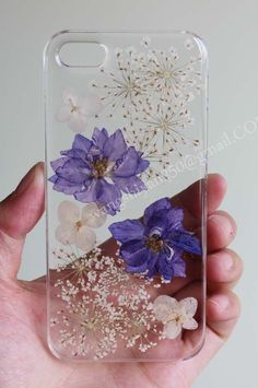 Pressed flower phone case,Real flowers case