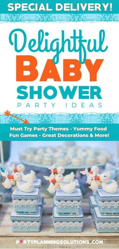 Whether you are throwing a party for 20 or 200, these delightful baby shower ideas will help you throw a party that your future mama friend will never forget! #babyshowerideas #babyshowerparty #babyshowerplanning #partyideas