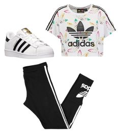 """Untitled #180"" by journeycarothers on Polyvore featuring adidas Originals and adidas"