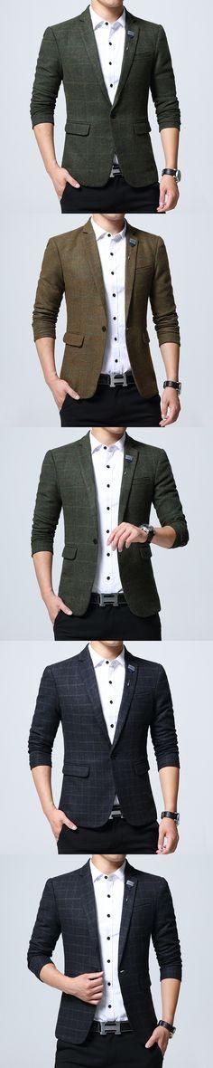 2017 Autumn New Arrival Blazer Chess Slim Fit Fashion Men's Suit Men's Trend Clothes Men's Office Suit Most Asian Size 5XL