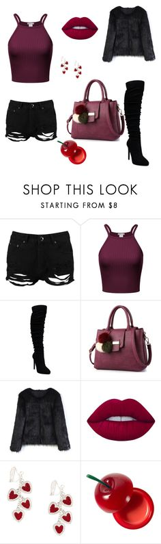 """Untitled #2"" by medina-besic ❤ liked on Polyvore featuring Boohoo, Chicwish, Lime Crime and TONYMOLY"