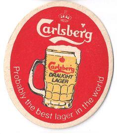 Carlsberg Vintage 70s Beer Mat Sous Bock, The Good Son, Beer Mats, All Beer, Beer Coasters, Retro Advertising, Brand Packaging, Craft Beer, Brewery