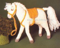 Crochet Horse, Goats, Dinosaur Stuffed Animal, Crochet Patterns, Horses, Knitting, Projects, Kids, Handmade