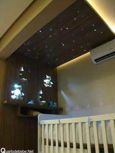 quarto de bebê com teto estrelado http://www.mimoinfantil.com.br/