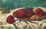 Frantisek Emler - Still Life with Fruit, tempera... on MutualArt.com
