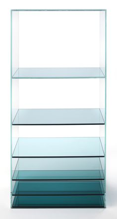 Anonymous; Colored Film and Glass 'Deep Sea' Shelves by Nendo for Glas Italia, 2013.