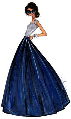 Anum Tariq Illustrations - Ball Skirt - Shabby Apple