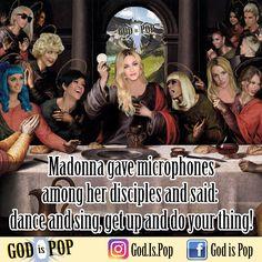 Madonna gave microphones among her disciples and said: dance and sing, get up and do your thing! 🙏🏻 God is Pop!  #godispop #pop #popmusic #musicapop #madonna #britney #nickiminaj #beyonce #pink #xtina Xkatyperry #ladygaga #gaga #pink #taylorswift