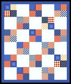 Simple 4 patch  (Use this for quilting baby clothes quilt)