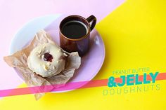 Peanut Butter and Jelly Doughnuts // The Sugar Hit