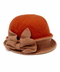 Another great find on #zulily! Apricot Bow Wool Cloche #zulilyfinds