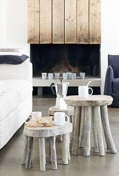 = branch leg stools as coffee table