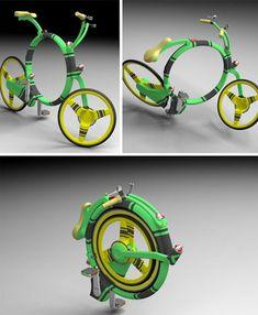 Bicicleta retrátil pra guardar em qualquer lugar