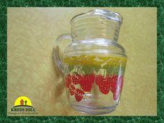 Vintage Large Strawberry Fruit Design Glass by KressHillVintage, $31.00