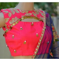 Get the huge collection of latest blouse neck designs that will add on to the festivals that you are thinking of wearing it. Explore the best blouse design with thousands of images and photos online. Indian Blouse Designs, Blouse Back Neck Designs, Brocade Blouse Designs, Netted Blouse Designs, Best Blouse Designs, Simple Blouse Designs, Neck Designs For Suits, Stylish Blouse Design, Neckline Designs