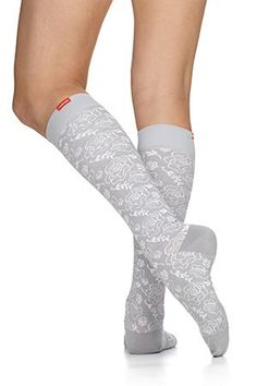 b6b8e7bff2 Summer style & compression in our cotton compression socks. Women's Juliet  Floral: Grey &