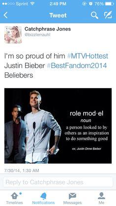 I'm so proud of him (my tweet)