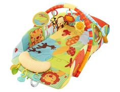 One reason to love Bright Starts Swingin' Safari Baby's Play Place Activity Gym is for its newborn safety features. The sides stay upright (to keep baby from rolling over) while she discoveries the toys, lights and music above. Diapers.com, $80