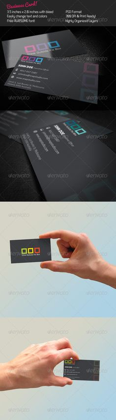 Box Business Card — Photoshop PSD #box #creativity • Available here → https://graphicriver.net/item/box-business-card/242284?ref=pxcr
