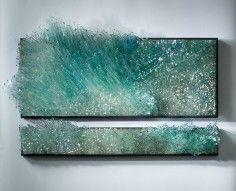 Glass sculpture by american artist Shayna Leib. Montage Photo, Art Sculpture, Water Sculpture, Wow Art, Mosaic Glass, Installation Art, Amazing Art, Contemporary Art, Art Photography