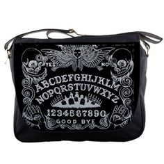 Hey, I found this really awesome Etsy listing at https://www.etsy.com/uk/listing/261087617/ouija-board-in-black-messenger-bag