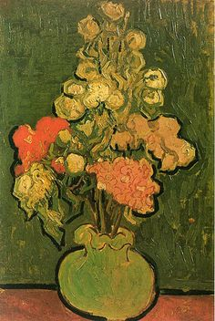 Vase with Rose Mallows, Vincent Van Gogh