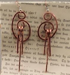 Earrings in minutes..Copper wire fun