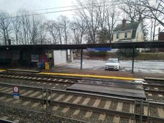 The Curtis Park SEPTA regional rail station along the Wilmington/Newark line in Sharon Hill, PA.