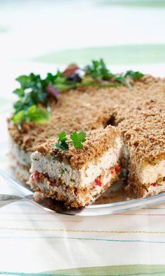 Suvun suosikkivoileipäkakku | Maku Savory Pastry, Savoury Baking, Scandinavian Food, Sandwich Cake, Just Eat It, Savory Snacks, No Bake Treats, Piece Of Cakes, Desert Recipes