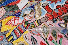Detail Of Mosaic Mural At Flinders Street Station By Melbourne ...
