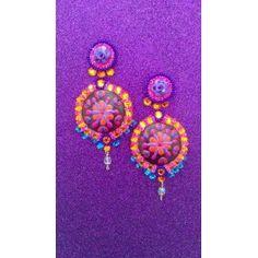 Folk Glamour orange&purple