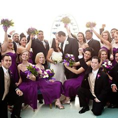 Various styles of plum purple bridesmaids dresses  from Nordstrom's Wedding Suite; it can be a bit pricey